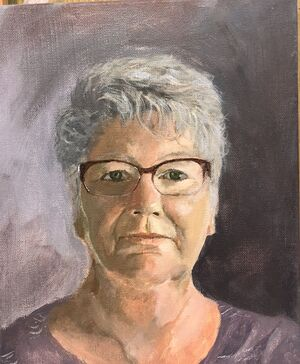 Self Portrait Artist Rosalie Campbell