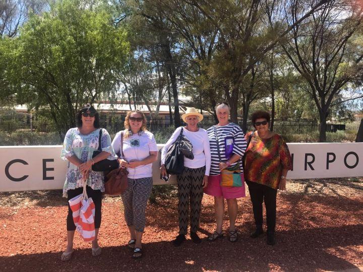Worimi arriving at Alice Springs