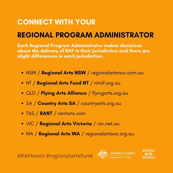 RAF Regional Program Administrators